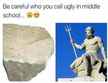 Neptune was ugly in middle school . . . - meme
