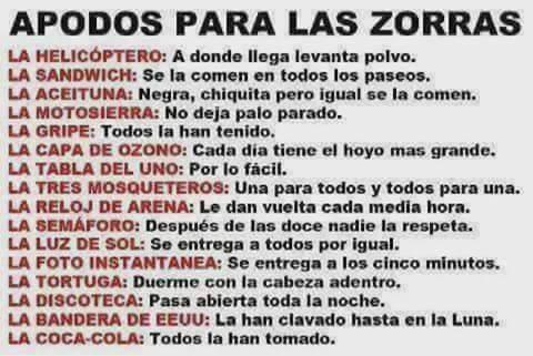 Zorras... - meme