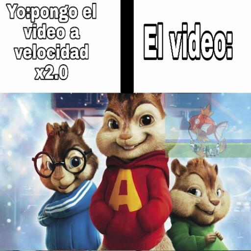 Las velocidades de youtube - meme