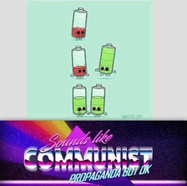 Communist battery - meme