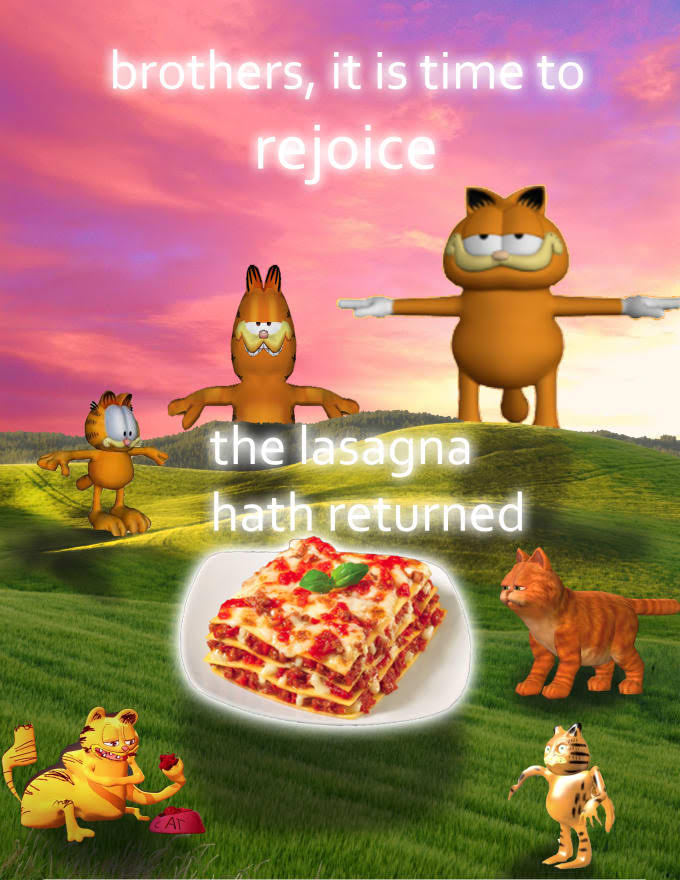 Glorious Lasagna - meme
