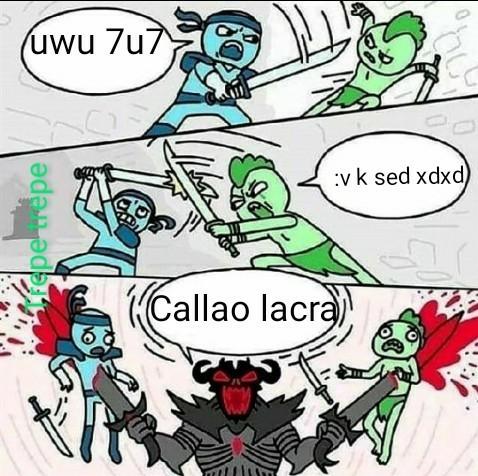 Callao ser inferior - meme