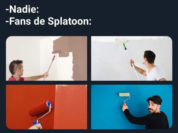 Splatoon es racista, porque consiste en elimina a todo lo que no sea de tu color. - meme