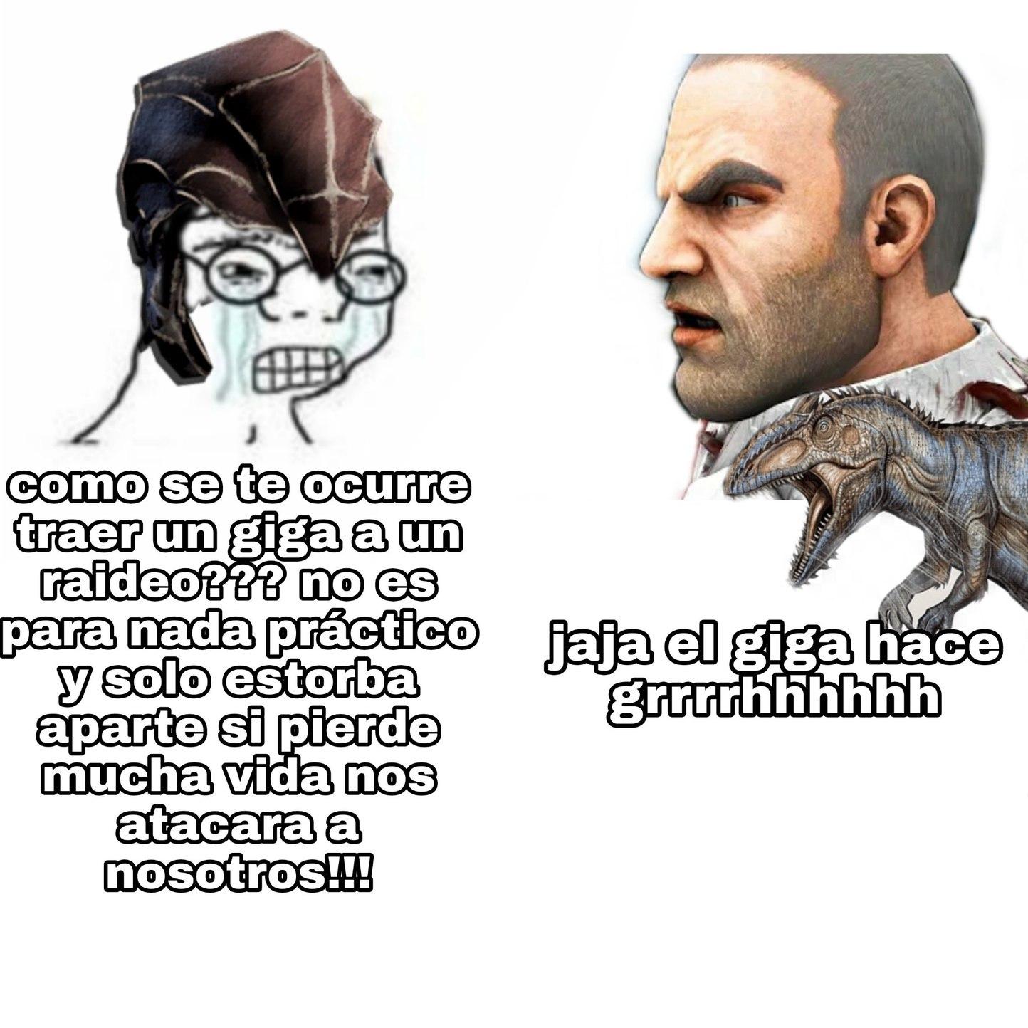 Jajaja un meme de ark xd
