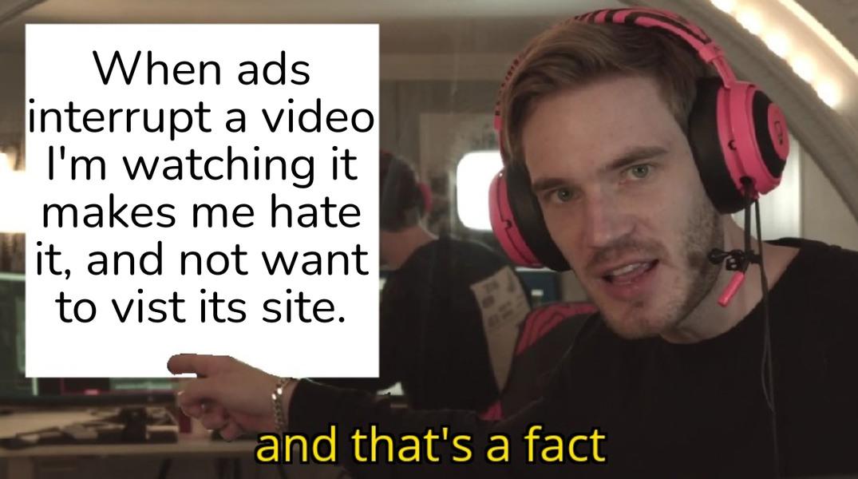 I HATE ADS - meme