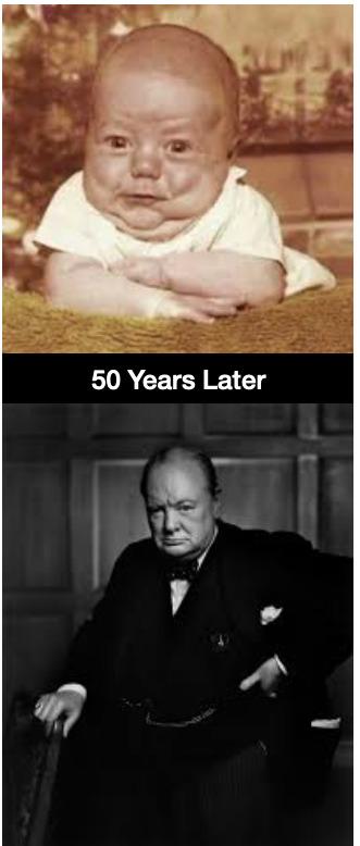 Churchill Baby - meme