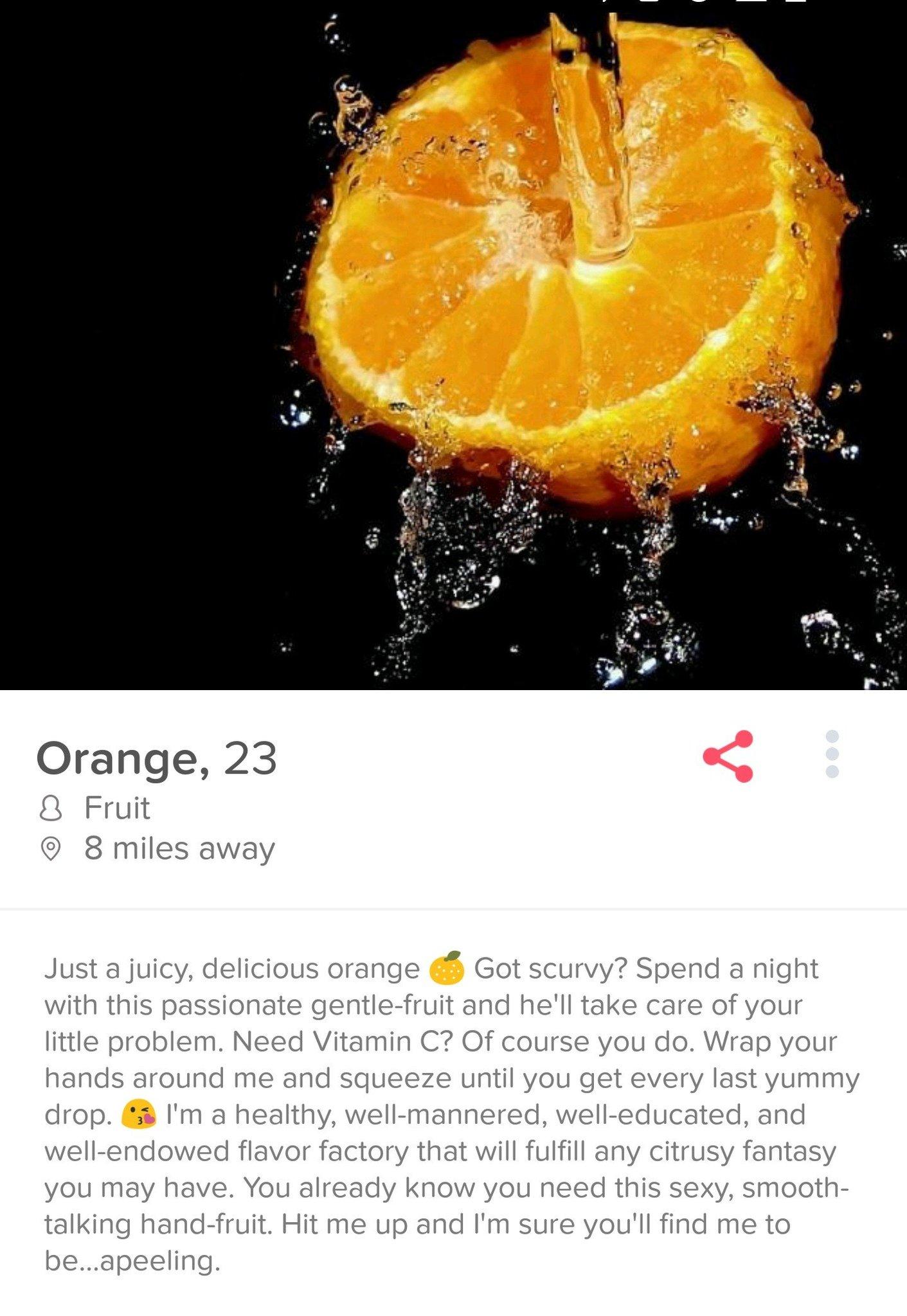 Orange tinder - meme