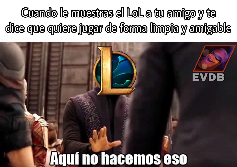 Liaga de Leyendas - meme