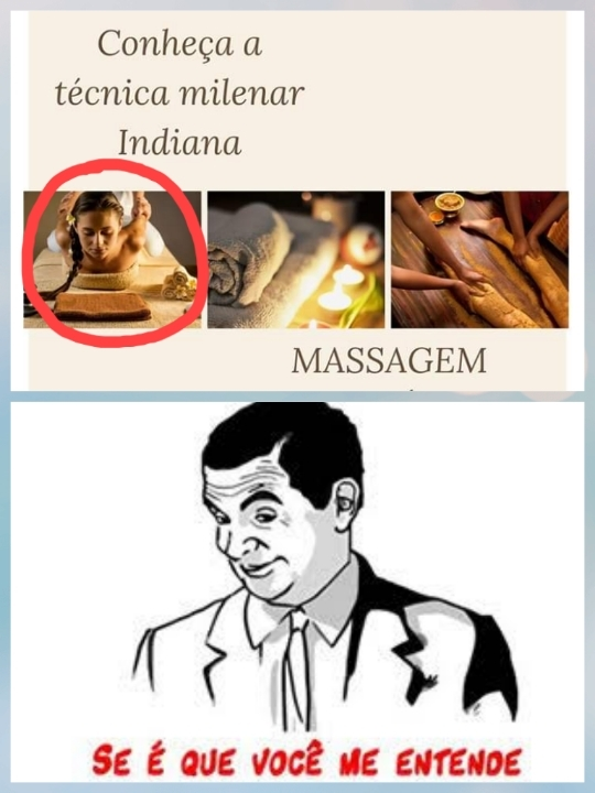 Massagem indiana - meme