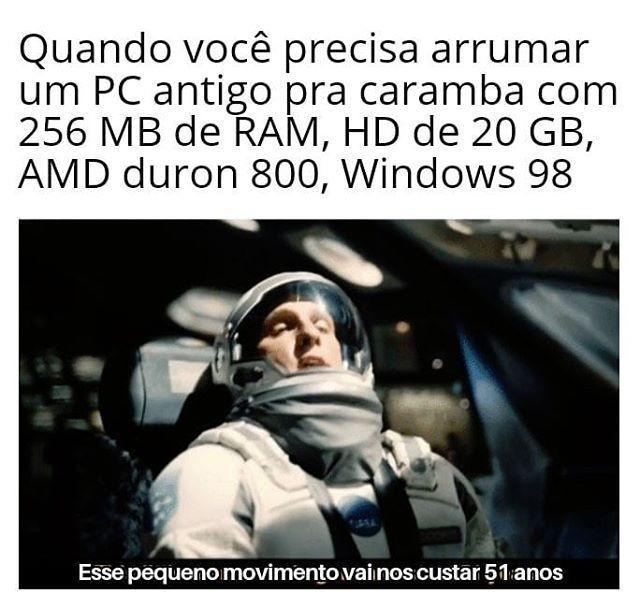 PC gueimer ancião - meme