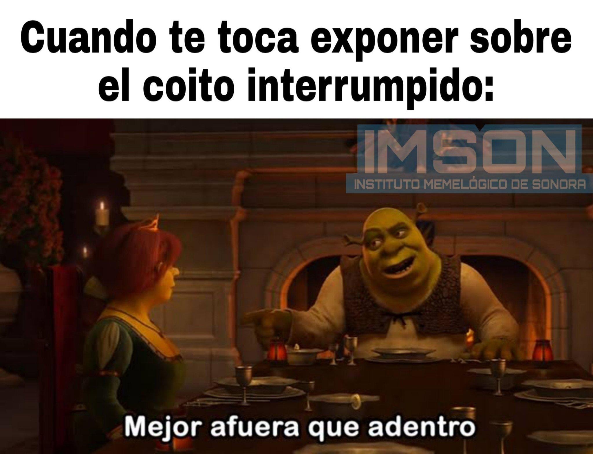Shrek no aplicó su frase - meme