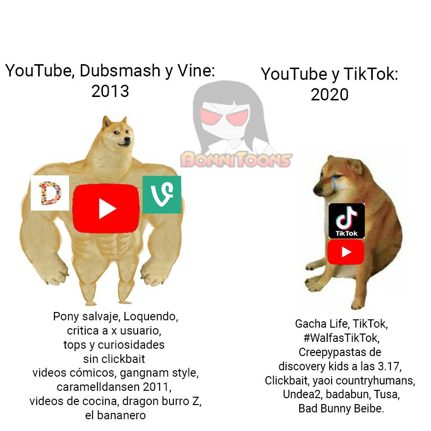Que te pasó YouTube? Antes Eras Chévere - meme