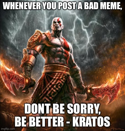 I love god of war not because of fortnite just like it alot - meme