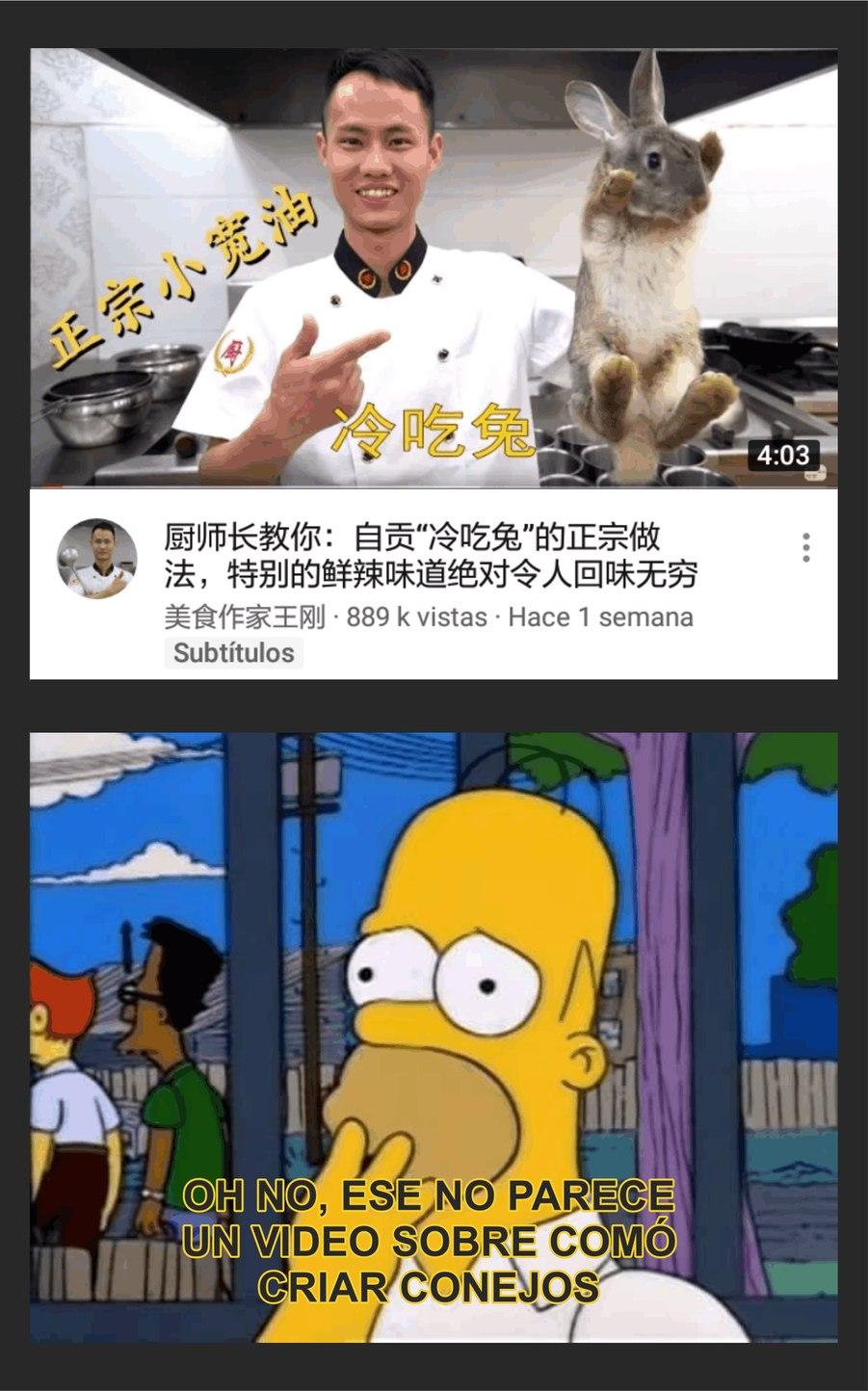 No me dejan de salir vídeos de ese chino en mi inicio de youtube - meme