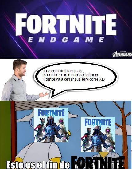 a fornite se le a acabado el juego - meme