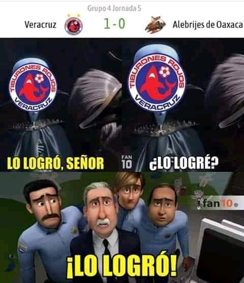 Tras 7 meses, Veracruz gana un partido - meme