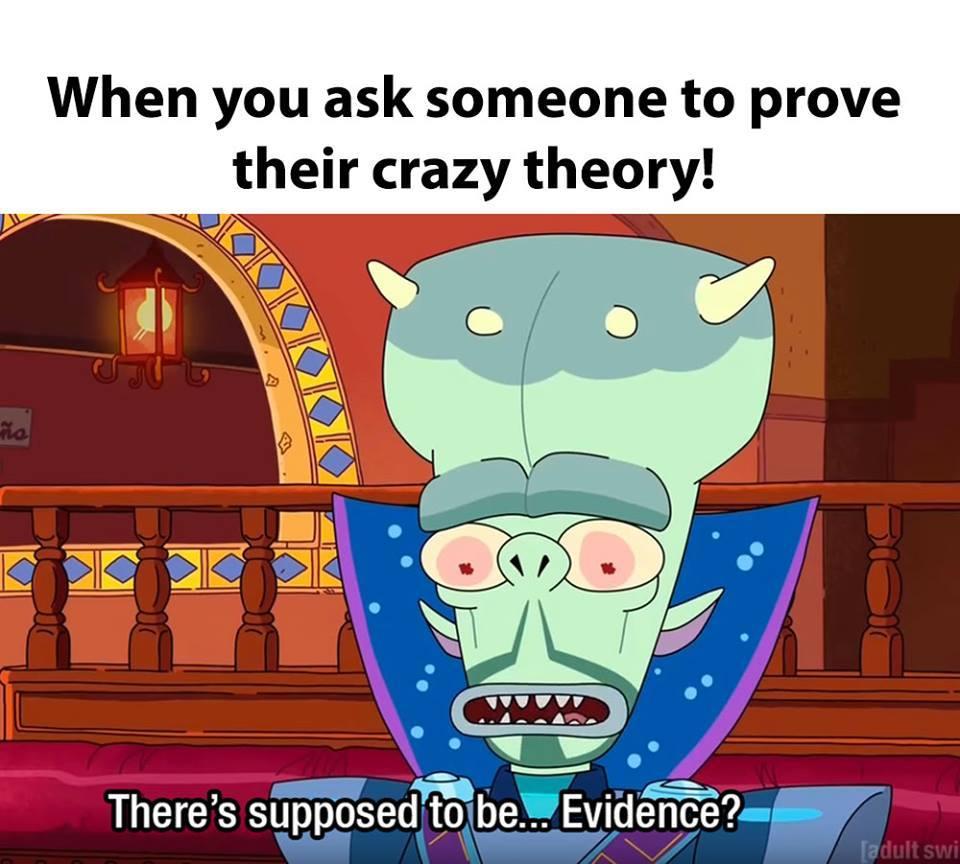 evidence - meme