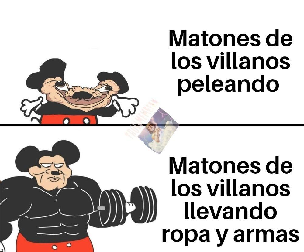 Estos Matones son tontooos - meme