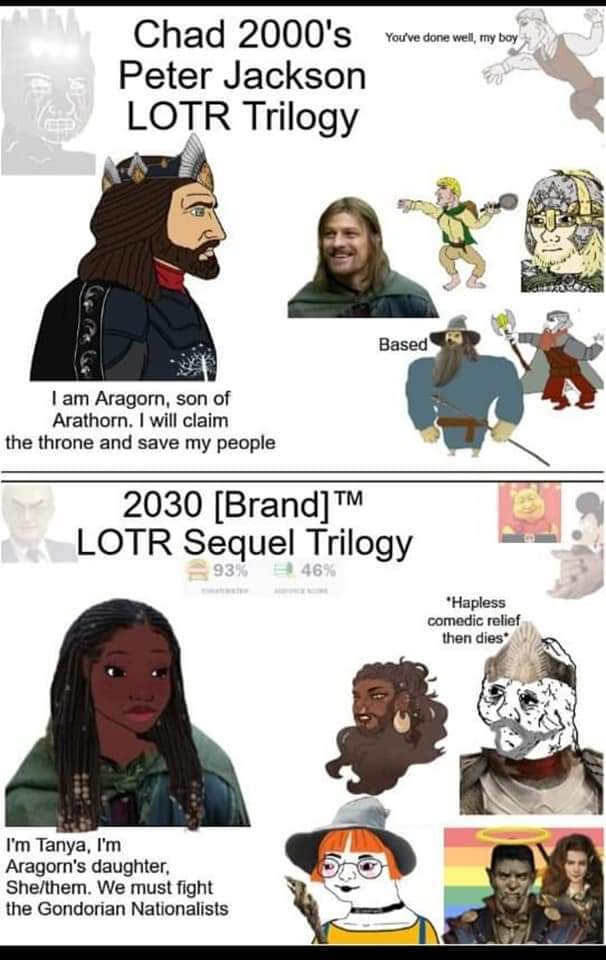 How LOTR sequel/remake will look like - meme