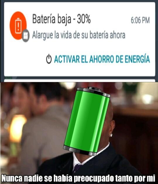 Bateria baja -30% - meme