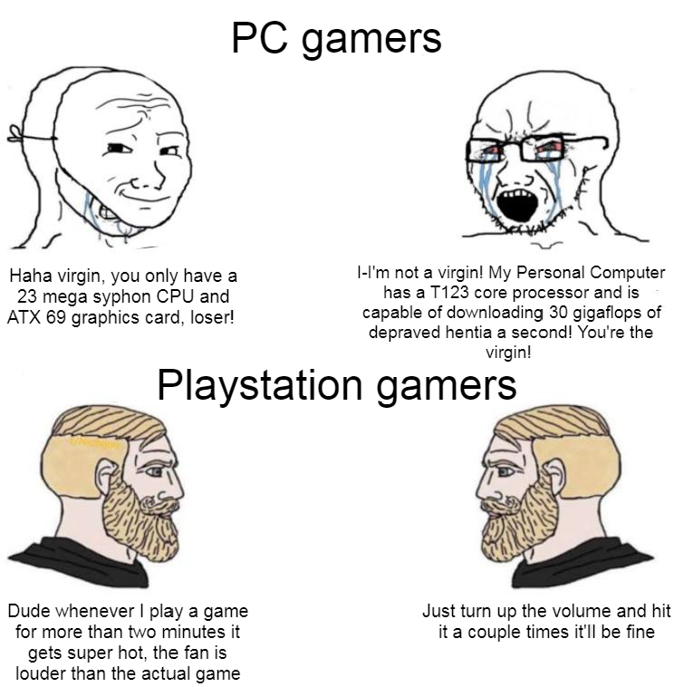 Superior gamer here - meme