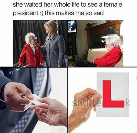 She took the L - meme