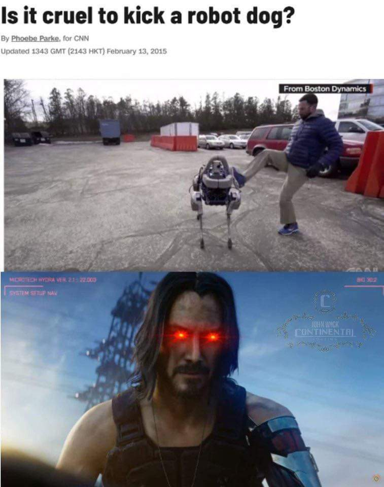 Keanu in Cyberpunk is all this world needs - meme