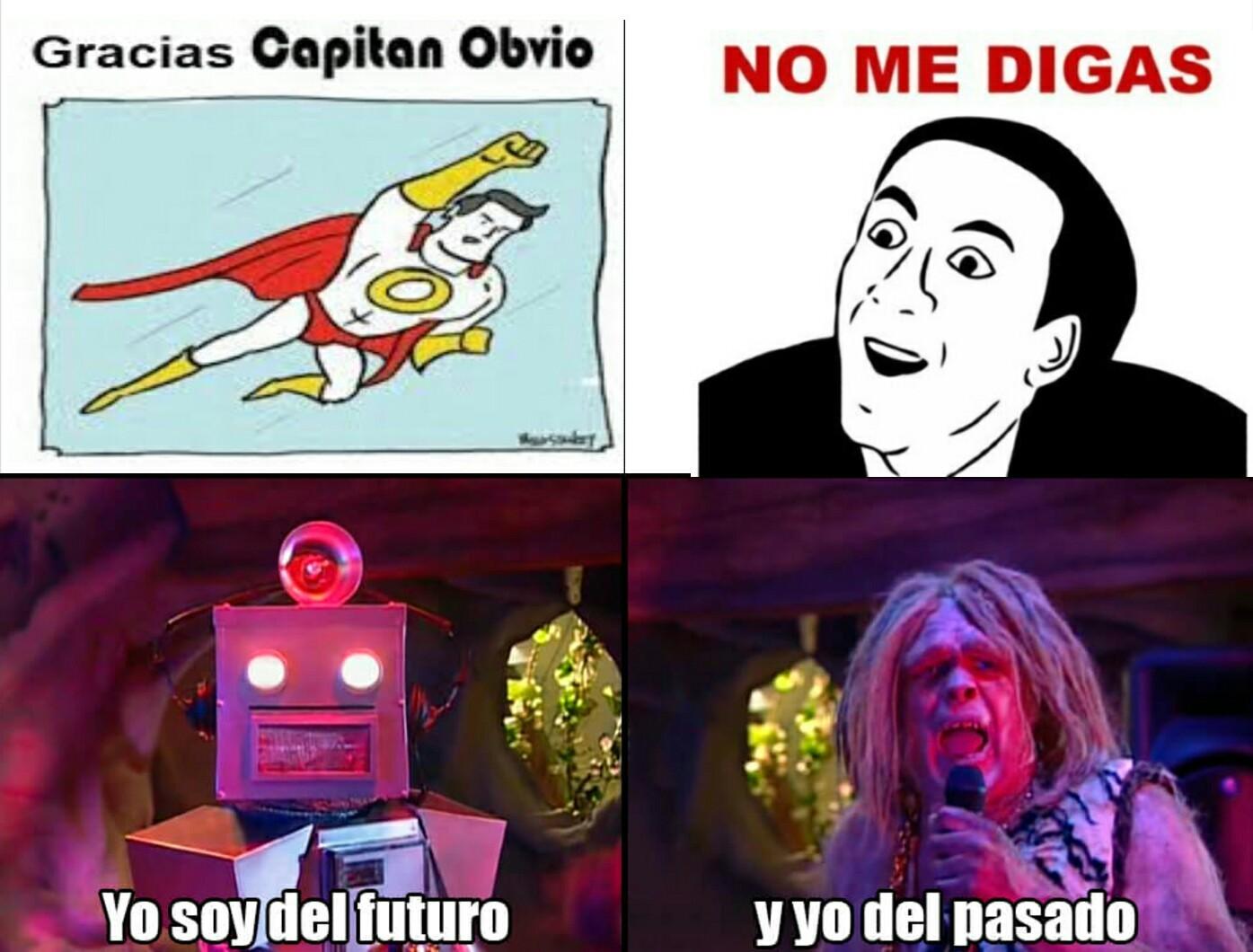 Capitán Obvio vs No me digas - meme