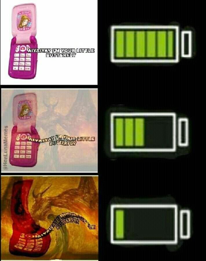 Entre menos batería más turbio - meme