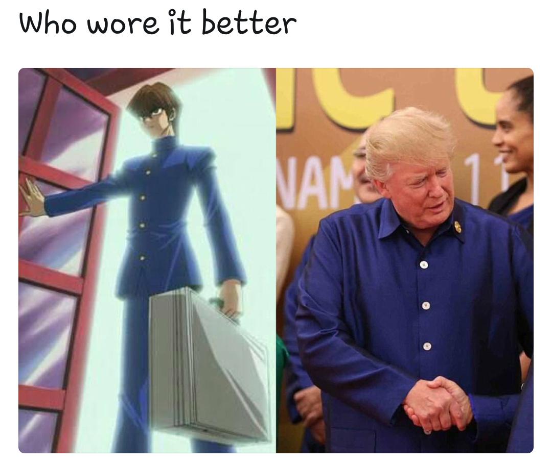 Trump is a weeb, confirmed - meme