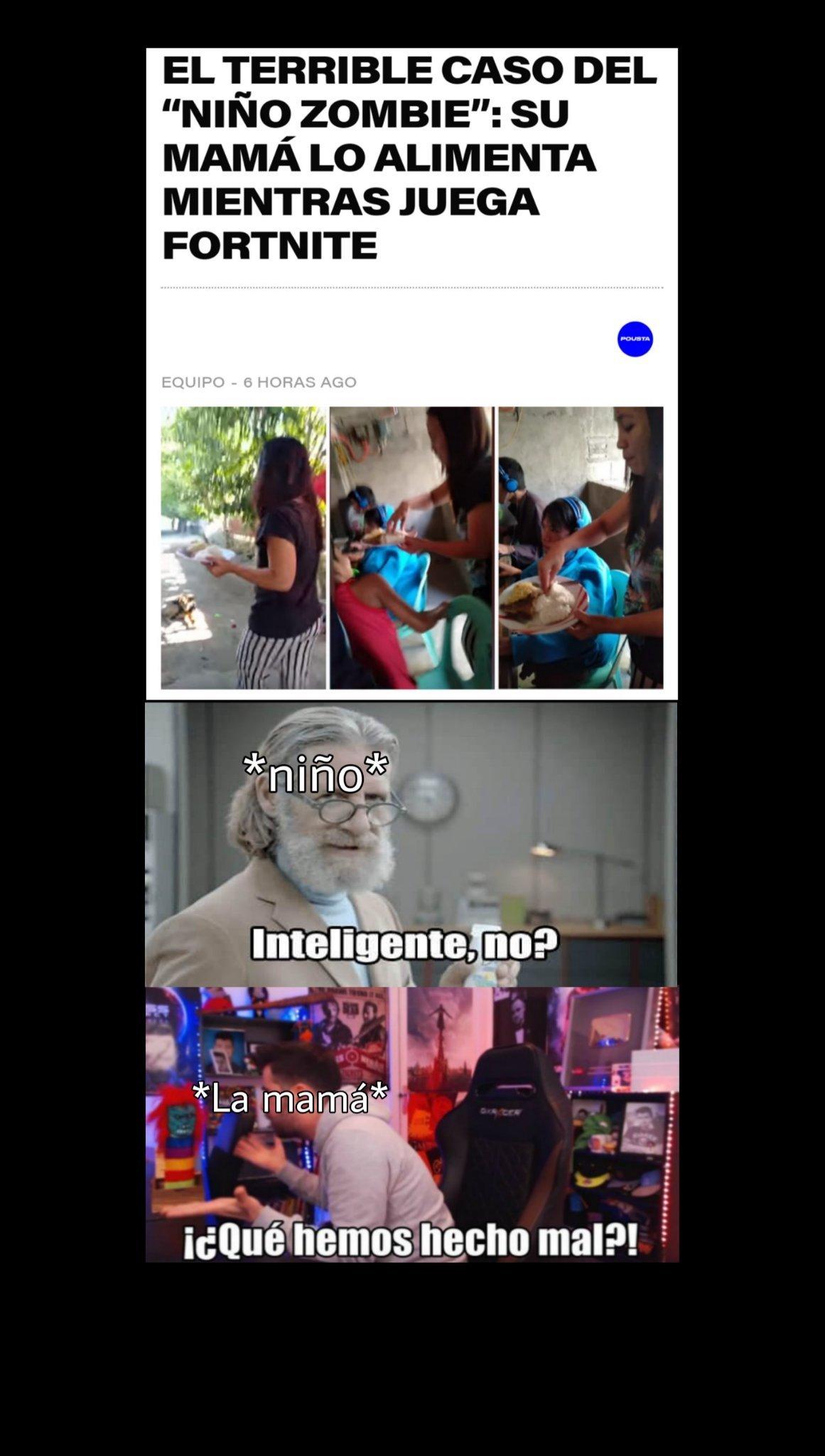 El título juega fornite - meme