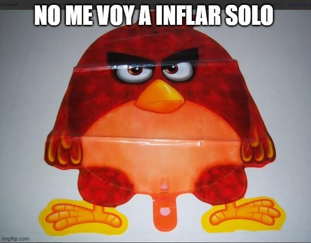 No me voy a inflar solo - meme