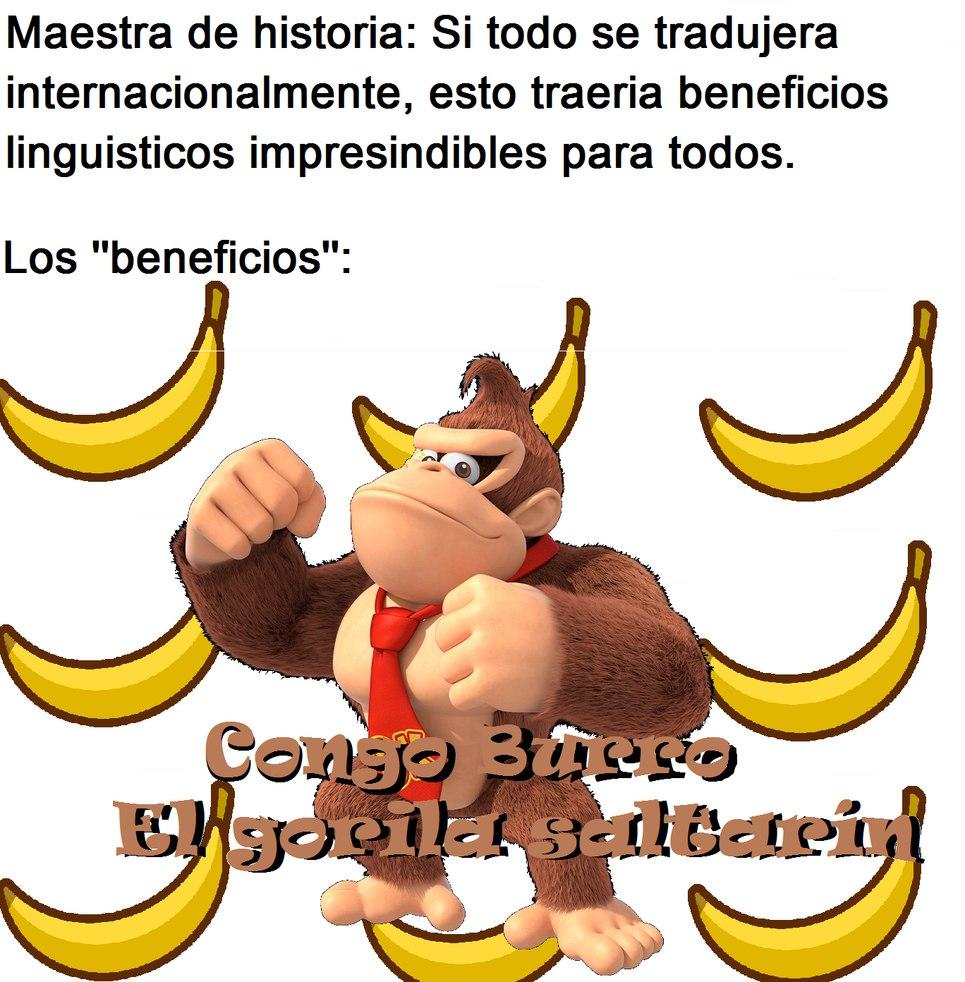 Donkey=Burro Kong=Congo. Aquí esta el contexto y las risas por acá ----> https://pornodesexo.com - meme