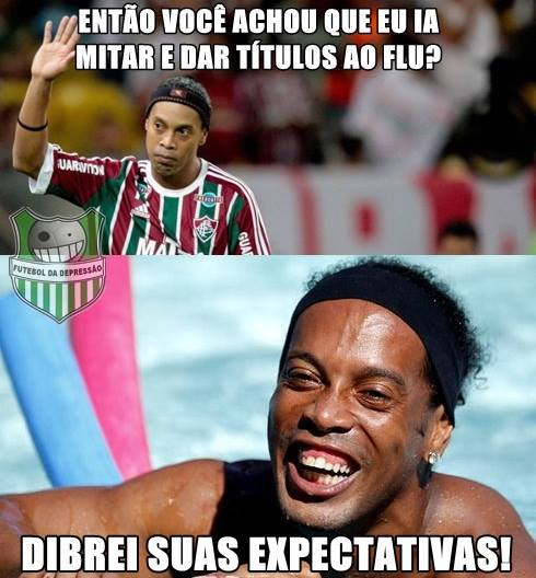 Ronaldinho te trollou - meme