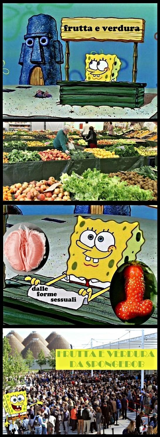 Evoluzione della template classica di Spongebob, sottotitolo: ricordi di una estate ormai passata... - meme