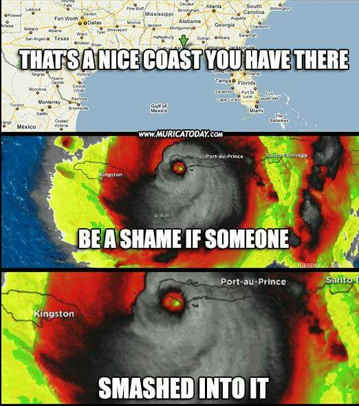 This storm looks like it's about to rape you. - meme