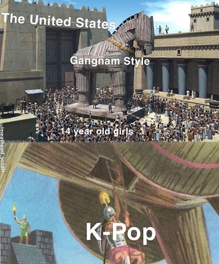 how kpop in invaded - meme