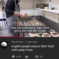 water seasoning
