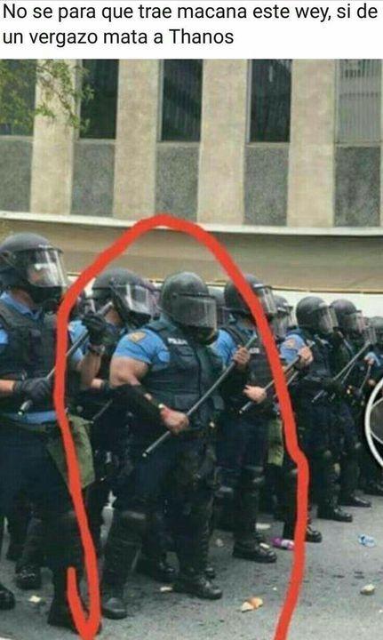 la policia esta mamadisima :0 - meme