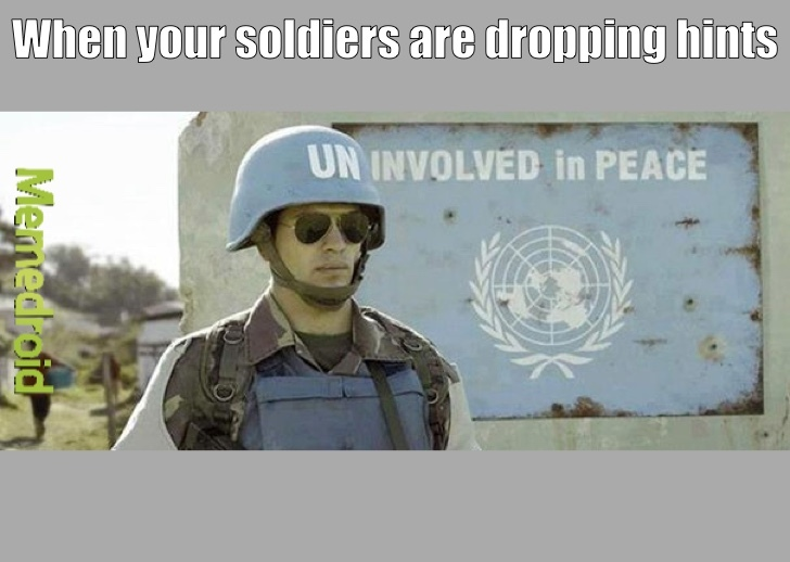 United Nations Soldier - meme