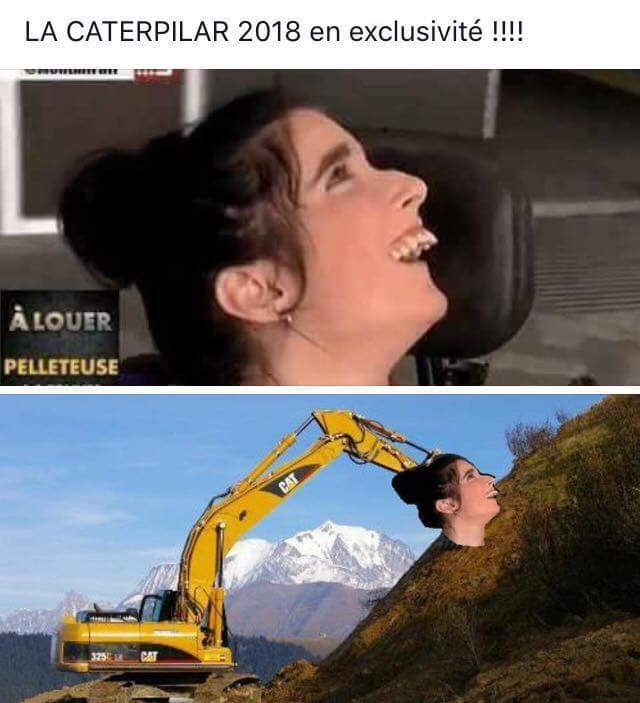 Caterpillar lance son nouvel engin avec un godet hyper efficace - meme