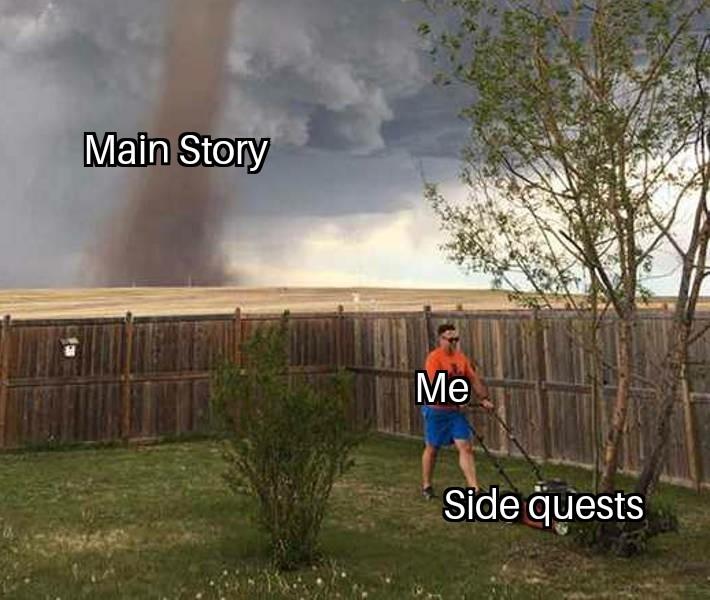 Gaming in a nutshell - meme
