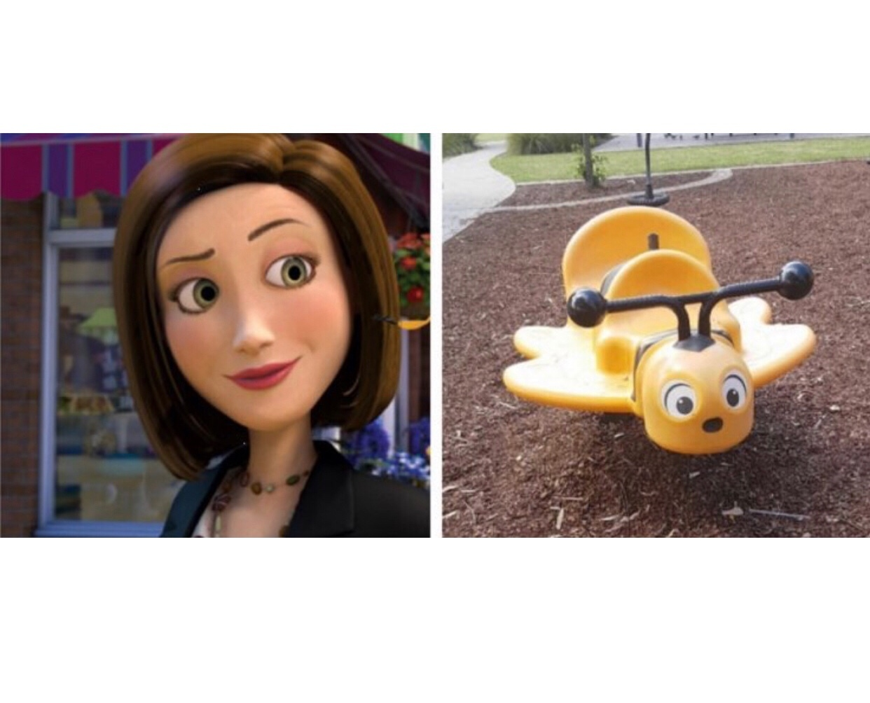 now she can finally ride a bee - meme