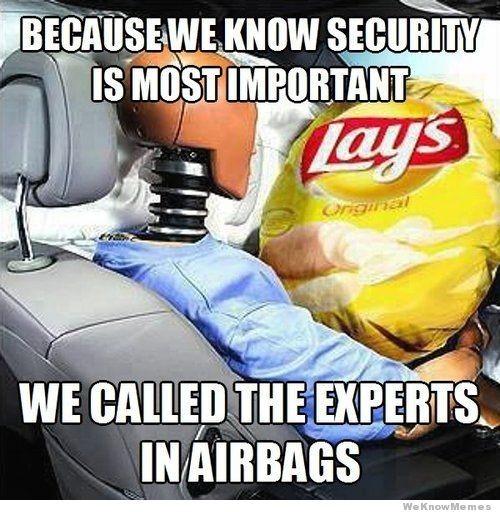 Lays airbags. - meme