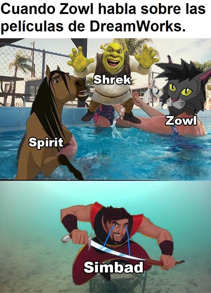 Zowl y sus vídeos de DreamWorks - meme