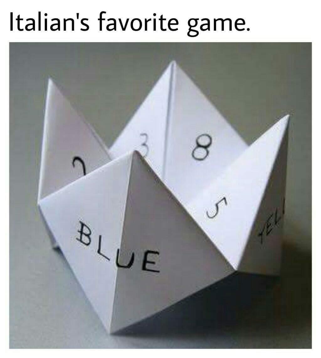 jogo favorito dos italianos - meme