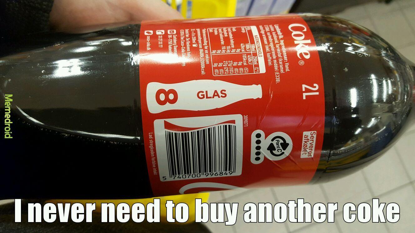 Infinity cola! - meme