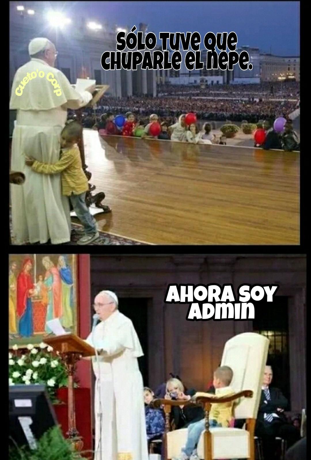No es tan difícil ser administrador del Vaticano. - meme