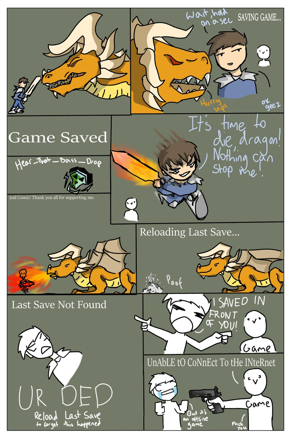 2nd Comic. It was really just an excuse to draw a dragon. - meme