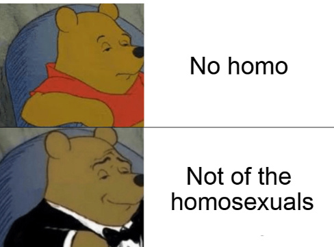 Never forget to say no homo - meme